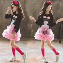 Neue Ankunft Weihnachten Kleidung Schöne Mädchen Party Kleid Kinder Cartoon Prinzessin Layered Kleider Winter Kleidung Mädchen 8 Zu 12 Jahre