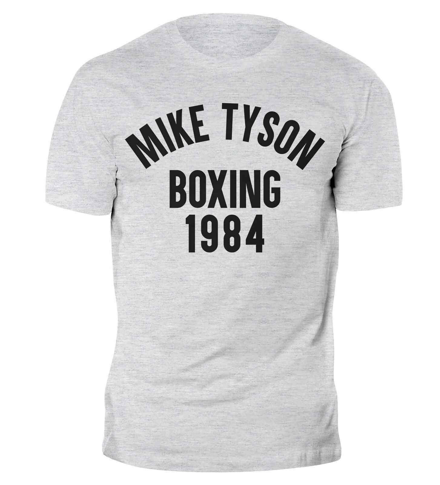 Camiseta de boxeo para el gimnasio de la caja de Muhammad Ali de 1984 Tyson