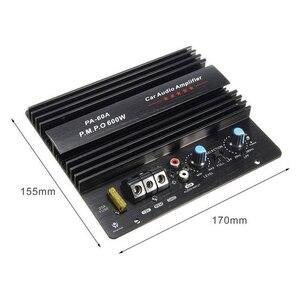 Image 4 - Altavoz PA 60A de 12V y 600W, Subwoofer, módulo de graves, accesorios de Audio de alta potencia para coche, tablero amplificador sin pérdidas duradero de canal único