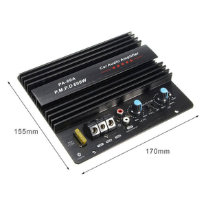 Image 4 - New 12V 600W PA 60A Speaker Subwoofer Bass Module High Power Car Audio Accessories Mono Channel Durable Lossless Amplifier Board