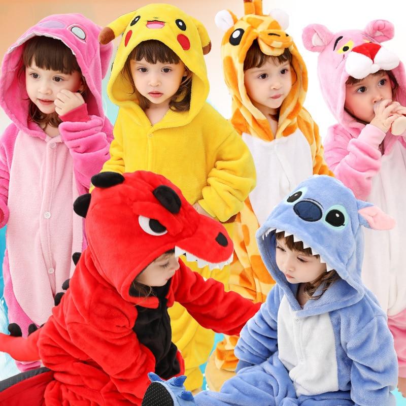 Pijamas infantiles para niños niñas Pijamas de dinosaurio franela niños Stich Pijamas conjunto ropa de dormir Animal invierno Onesies Kigurumi Mallas de bebé MILANCEL a rayas para bebés y niños leggings ajustados leggings coreanos para niñas