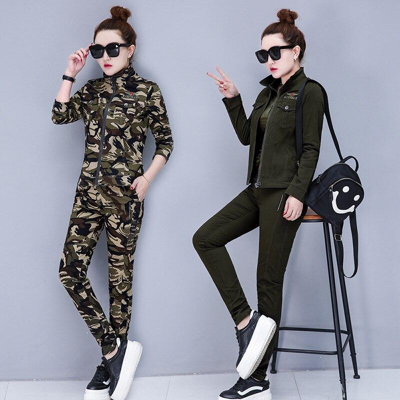 2633.9235 Slimming Uniform Two-Piece Set Uniform Costume Outdoor Sports Jungle Camo WOMEN'S Dress Camouflage Suit