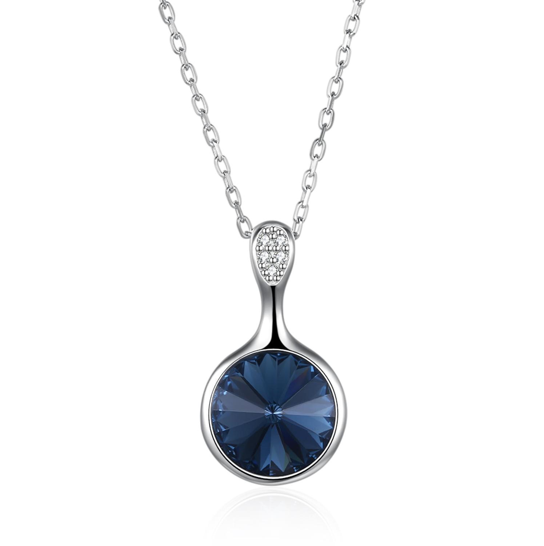Haute qualité coloré rond pierre pendentif mode femmes décontracté luxe collier nouvelle conception