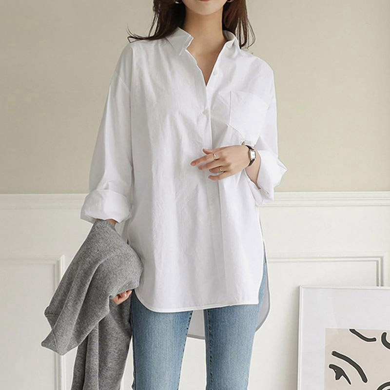 Blouse Womens White Blouses Shirt Spring Summer Blusas Office Lady Elegant Loose Tops and Blouses Casual Shirts Women