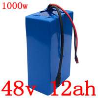 48V battery pack 48V 12AH electric bike battery 48V 12AH lithium battery pack for 48V 500W 750W 1000W ebike motor with 2A charger