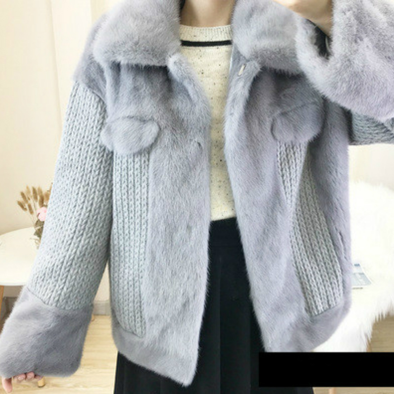 OFTBUY 2019 Natural Real Mink Fur Coat Winter Jacket Women Turn Down Collar Thick Warm Streetwear Casual Luxury Brand Fashion