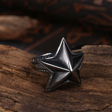 GOMAYA Fashion Jewelry Sea Star Starfish Shape Men Vintage Punk Rock Ring Antique Gothic Magic Anillos