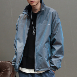 The spring of 2020 the new gradient coat male han edition tide loose tooling  handsome personality