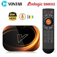 2020 VONTAR X3 TV 박스 안드로이드 9 4 기가 바이트 128 기가 바이트 8K Amlogic S905X3 듀얼 와이파이 1080P 4K 유튜브 안드로이드 9.0 셋톱 박스 4 기가 바이트 64 기가 바이트 32 기가 바이트