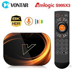 Image 1 - 2020 VONTAR X3 TV 박스 안드로이드 9 4 기가 바이트 128 기가 바이트 8K Amlogic S905X3 듀얼 와이파이 1080P 4K 유튜브 안드로이드 9.0 셋톱 박스 4 기가 바이트 64 기가 바이트 32 기가 바이트