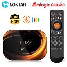 2020 VONTAR X3 TV, pudełko Android 9 4GB 128GB 8K Amlogic S905X3 podwójne Wifi 1080P 4K Youtube Android 9.0 dekoder 4GB 64GB 32GB