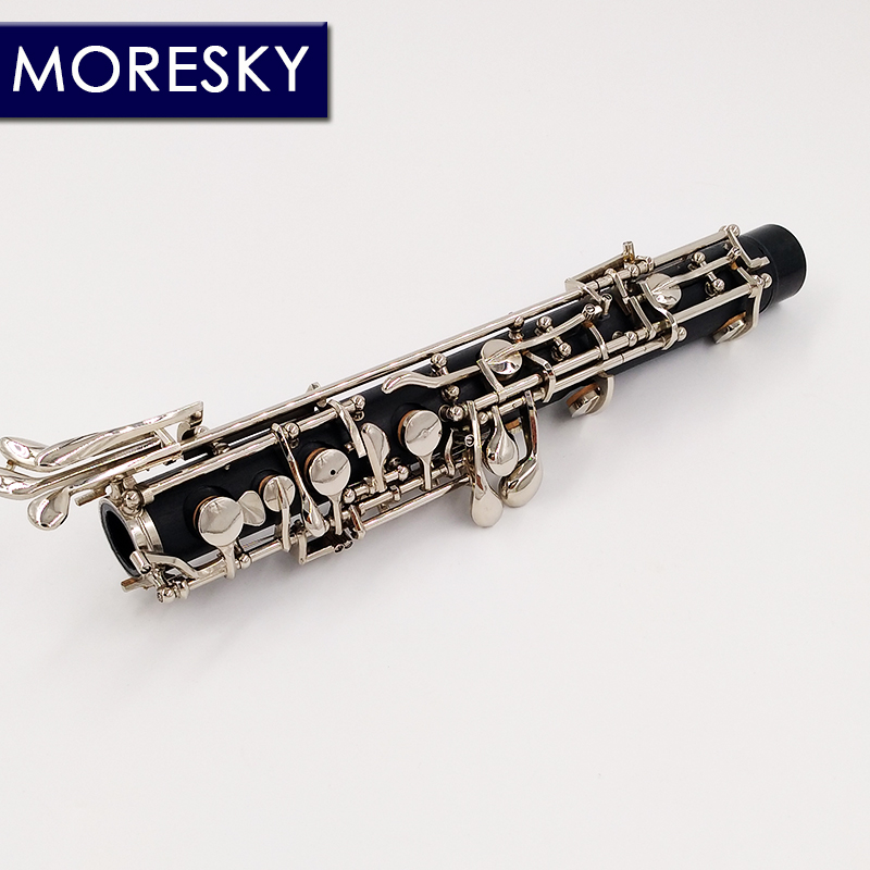 MORESKY professionnel C clé hautbois semi-automatique Style Cupronickel nickelplate MORESKY hautbois S01 - 4