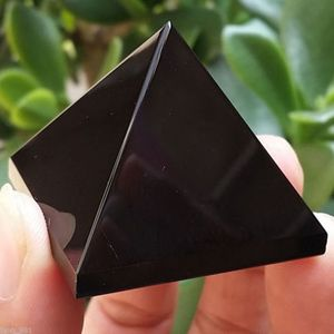 Pyramid Crystal Crafts Black Natural Obsidian Quartz Crystal Ornament Home Decor Car Decor Dashboard Decor Ornaments New Arrival
