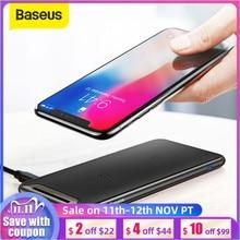 Baseus צ י אלחוטי מטען עבור iPhone Xs Max XR סמסונג S9 הערה 10 Xiaomi שולחן עבודה אלחוטי מטען אלחוטי טעינת Pad תחנה