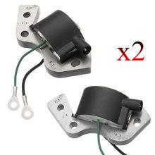 2 pçs novo módulo de bobina de ignição do motor externo bobina de ignição para johnson evinrude substituição plástico & metal 584477 0584477 582995
