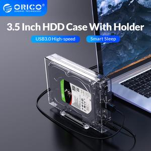 ORICO HDD Case 3.5 SATA to USB3.0 6Gbps Transparent Hard Drive Enclosure for HDD SSD Disk HD External HDD Enclosure 16TB(3159U3)