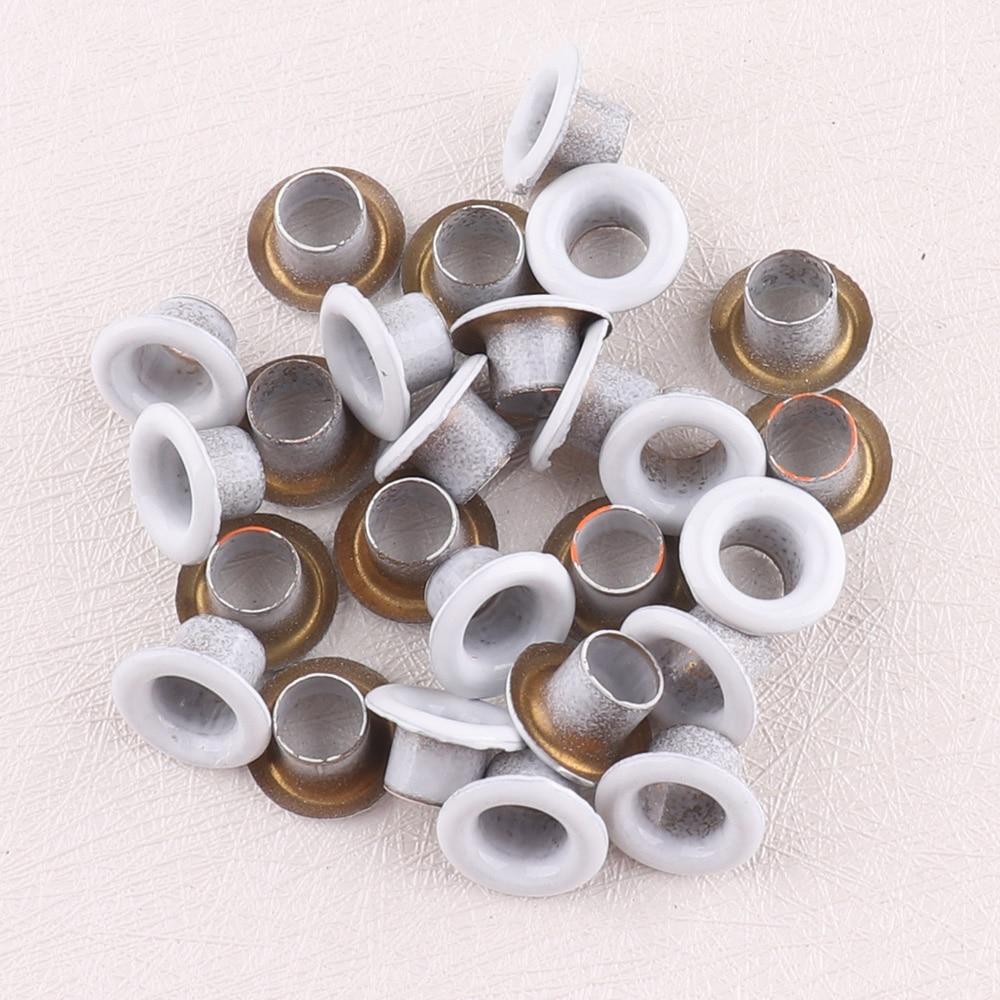 Œillets en métal blanc 5*8mm | Pour bricolage, chaussures de Scrapbooking en tricot, sacs en jean, accessoires pratiques