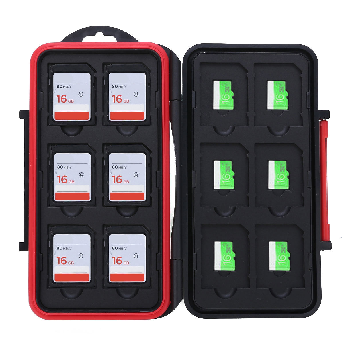 12 Slots SD/TF Cards Case Storage Box Waterproof Memory Card Case 12SD+12TF Large Capacity Storage Holder Box Cases
