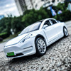 1:32 scale New energy vehicle diecast pure electric car Tesla MODEL 3 metal model with light AND sound pull back toy collection