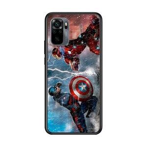 Image 5 - Captain America Marvel Voor Xiaomi Redmi Note 10 10S 9 9T 9S 9Pro Max 8T 8Pro 8 7 6 5 Pro 5A 4X 4 Zachte Zwarte Telefoon Case