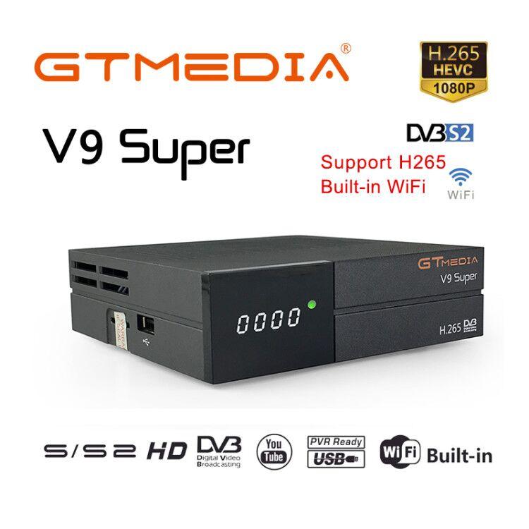 Суперприемник GTmedia V9, спутниковый ресивер DVB S2 H.265 1080p Full HD, цифровой ТВ-приемник, встроенный Wi-Fi медиаплеер с