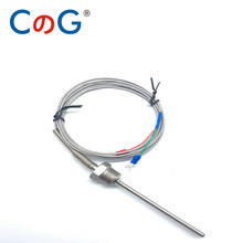 600C 1/2 NPT Waterproof Stainless Steel K J PT100 Thermocouple Sensor Probe 50mm 100mm for PID Temperature Controller 2m 5m wire