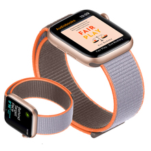 цена на Strap for Apple Watch band 44 mm 40mm Breathable Nylon Sport Loop watchband wrist bracelet iwatch band 38mm 42mm series 5 4 3 2