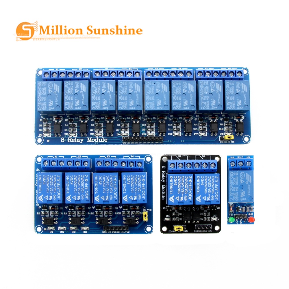 DC5V 1 2 4 8 Channel Relay Module With Optocoupler. Relay Output 1 2 4 8 Way Relay Module For Arduino Raspberry Pi In Stock!