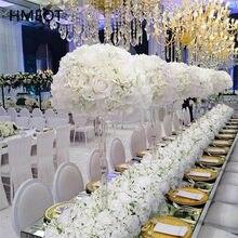 Łyszczec róża sztuczna kompozycja kwiatowa ozdoby na środek stołu kula z kwiatów łuk ślubny tło dekoracyjne kwiat wiersz układ strony