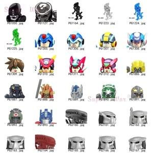 Single Alien Movie Predator Robot models Figures Head accessories Building Blocks toys for children Series-142