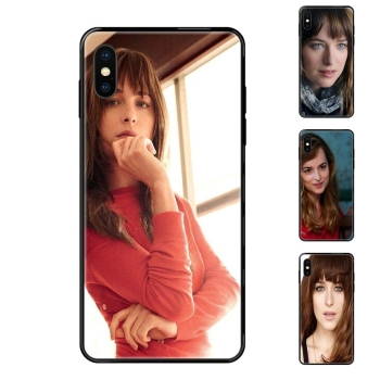 Black Soft TPU Cartoon Pattern Phone Case Nouvelle Fifty Shades Grey Dakota Johnson For Galaxy A10S A20 A20S A20E A21S A30 A30S image