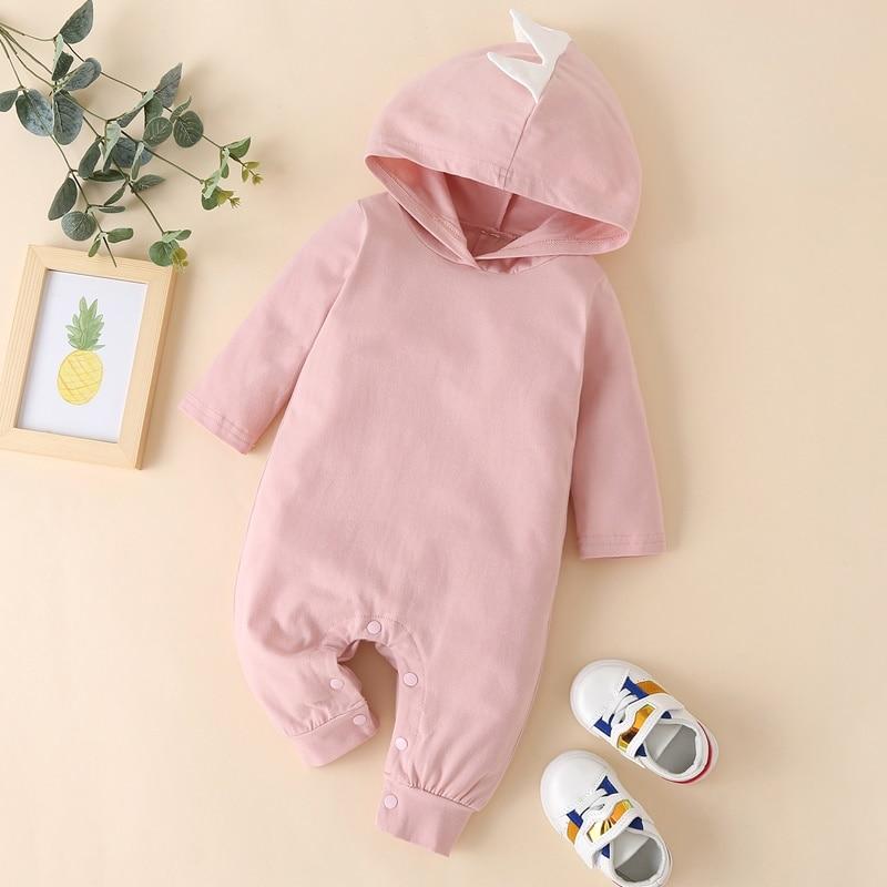 Купить осенне зимняя хлопковая одежда для маленьких девочек милый однотонный