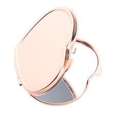 Espelho cosmético compacto dado forma coração de 1 peça-espelho compacto elegante da composição do bolso, espelho handheld do tamanho do curso