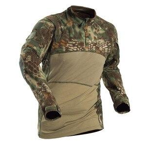 Image 2 - Mege hommes militaire tactique t shirt gymnastique Camouflage armée à manches longues t shirt soldats vêtements de Combat Airsoft uniforme Multicam chemise