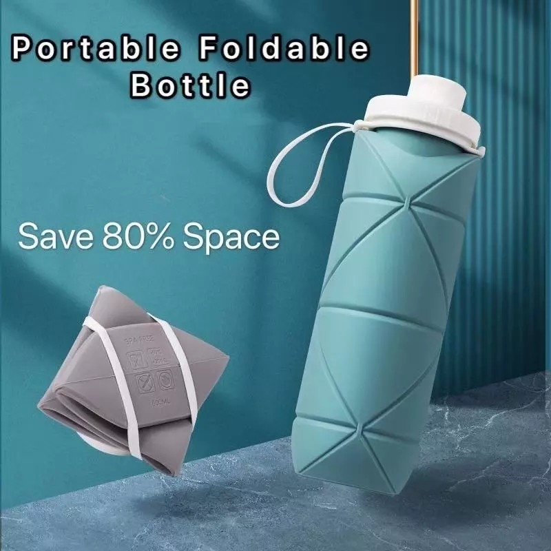 600ml taşınabilir katlanabilir şişe spor Drinkwear geri çekilebilir silikon kap açık seyahat içme koşu koşu