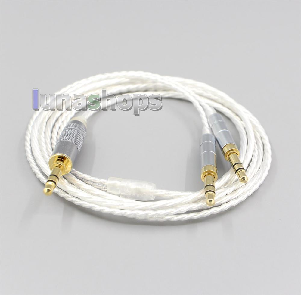 LN006628  XLR 2.5mm Hi-Res Silver Plated 7N OCC Earphone Cable For Hifiman Sundara Ananda HE1000se HE6se He400 3.5mm Pin
