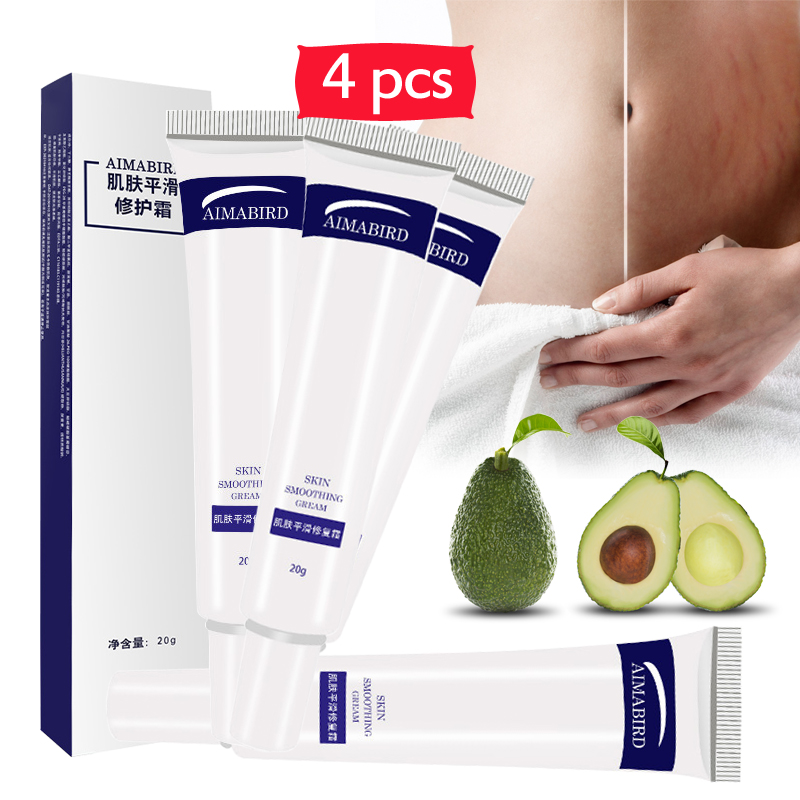 4PCS/lot Shea Butter Remove Pregnancy Scar Acne Cream Maternity Repair Anti-Aging Firming Body Creams Stretch Marks Treatment