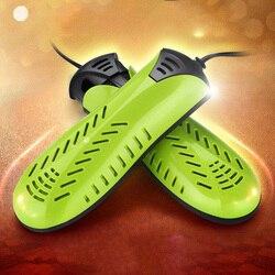20W elektryczna suszarka do butów 220V dwurdzeniowy Hetaer suszarka elektryczna do butów rękawica ue wtyczka w Półki i organizatory na buty od Dom i ogród na