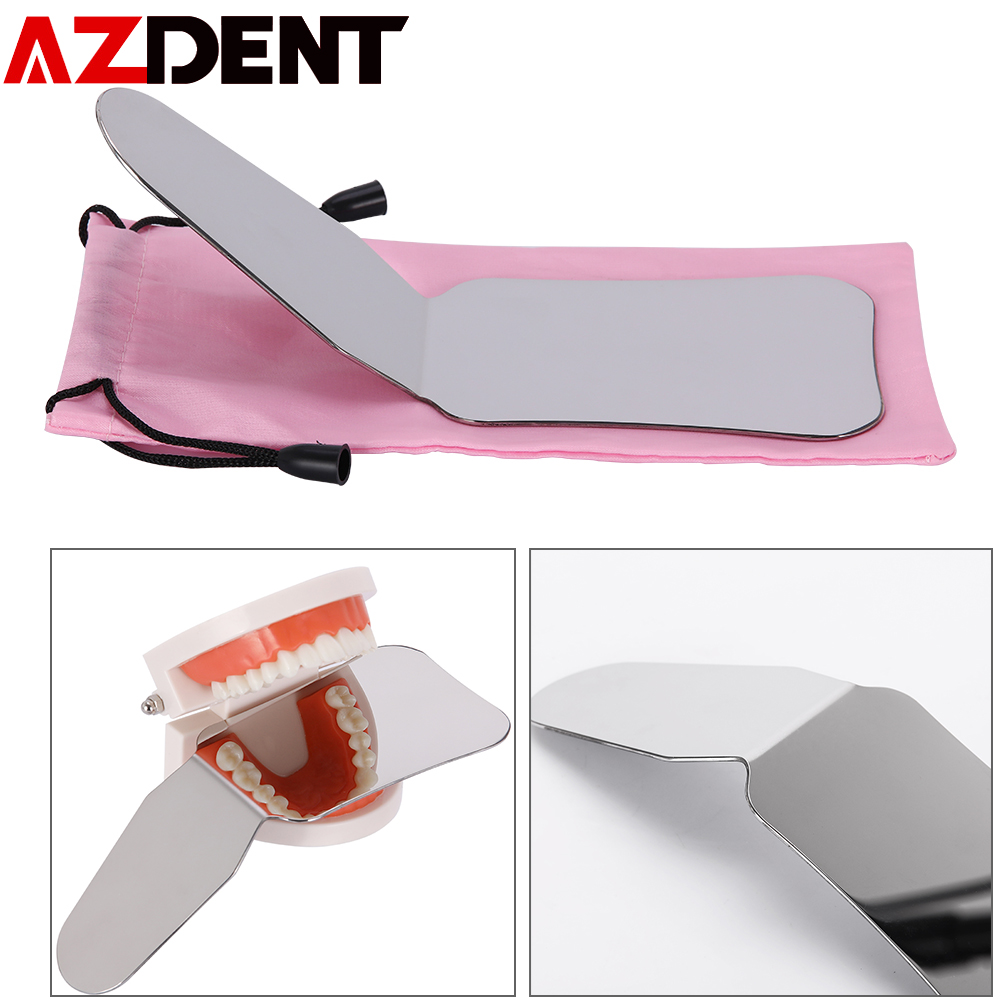 1 Pc Azdent New Dental Stainless Steel Photography Mirrors Autoclavable Double-Side Intra-Oral Orthodontic Reflector