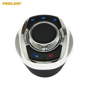 Image 1 - 1Set Auto Wireless Lenkrad Control Taste Tasse Form Mit LED Licht 8 Schlüssel Funktionen Für Auto Android navigation Player
