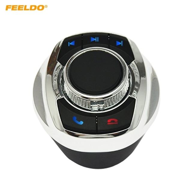 1Set Auto Wireless Lenkrad Control Taste Tasse Form Mit LED Licht 8 Schlüssel Funktionen Für Auto Android navigation Player