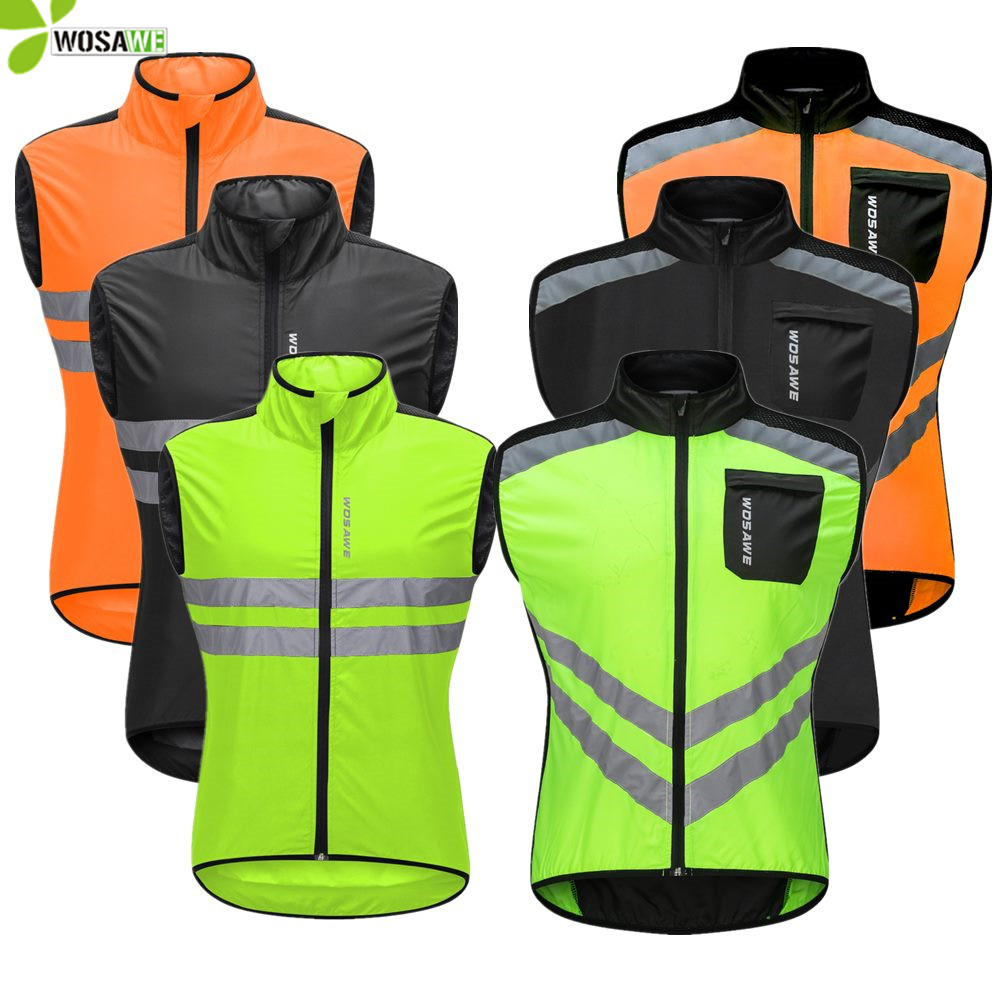 Cycling Jacket Windproof Wind Coat High Visibility Reflective Jersey Mens Coat