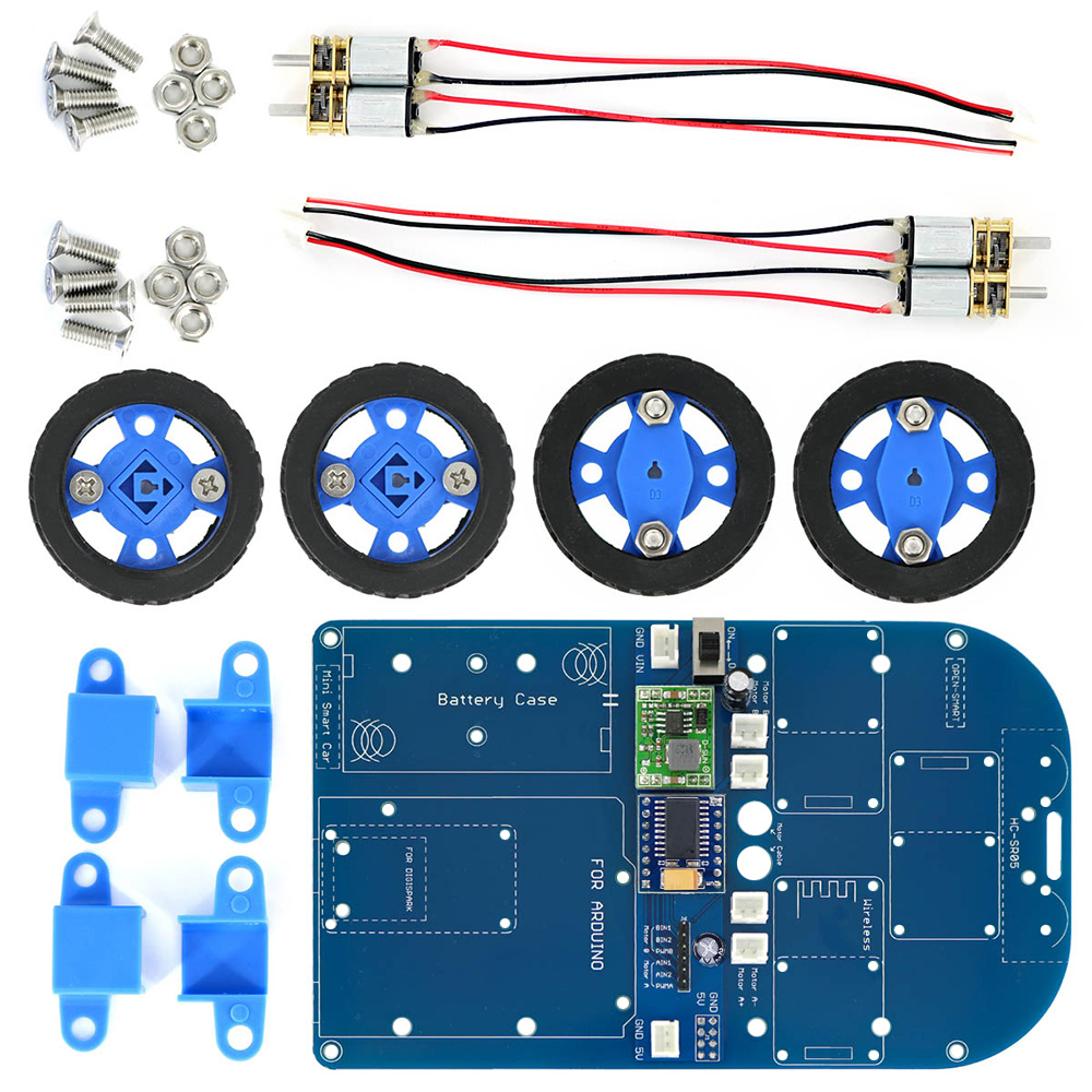 OPEN-SMART N20 Gear Motor 4WD Bluetooth Controlled Smart Robot Car Kit W/ Tutorial For Arduino
