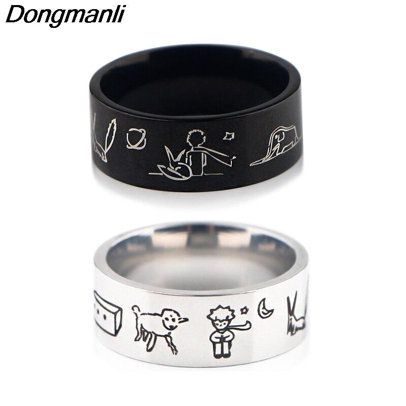 Мужское кольцо в стиле панк P1808 Dongmanli, винтажное Винтажное кольцо в стиле ретро с черным амулетом для Викинга, Скандинавская Руна