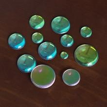 AB renkli yuvarlak Oval temizle Cabochons düz geri şeffaf cam DIY takı yapımı için el yapımı kolye bulguları toptan