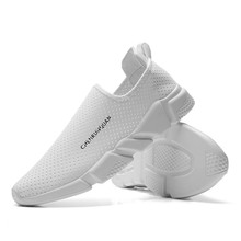 Womans Shoes Fashion 2019 Sneakers Women Casual Shoes White Breathable Slip-On Chunky Unisex Couple Walking Ladies Calzado Mujer