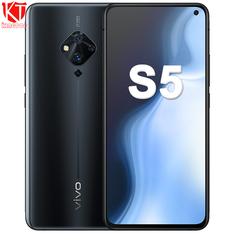Original Vivo S5 Mobile Phone  6.44'' Snapdragon 712 Octa Core 48MP Quad Rear Cameras 4100mAh 22.5W Fast Charge Cellphone