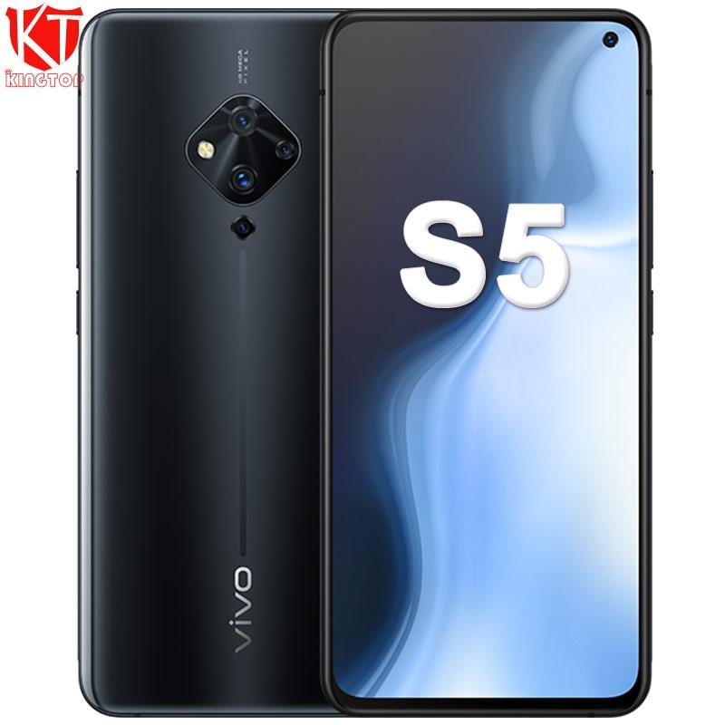 Original Vivo S5 Mobile Phone  6.44'' Snapdragon 712 Octa Core 48MP Quad Rear Cameras 4100mAh 22.5W Fast Charge Cellphone