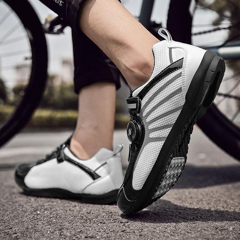 Дышащие велосипедные кроссовки MTB обувь для мужчин Светоотражающая обувь для шоссейного велосипеда женские и мужские кроссовки для гоночн...