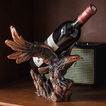 Resin Eagle Wine Rack Kitchen Furniture Dining Room Bottle Holder Bar Wine Cabinet Display Cabinet Storage Shelf Home Decoration resin wine girl wine rack best bottle holder egyptian goddess wine stand accessories home bar decor wine holder gift